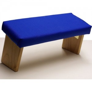 meditation bench blue