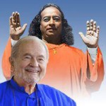 Smiling swami with master blessing
